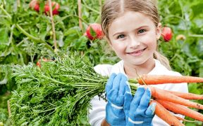Girl with carrots