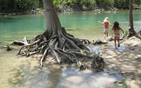 girls in guadalupe river