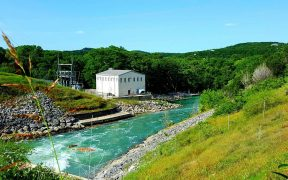 old powerhouse by Canyon Dam