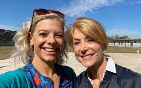 Colette Nies and Wendy Davis
