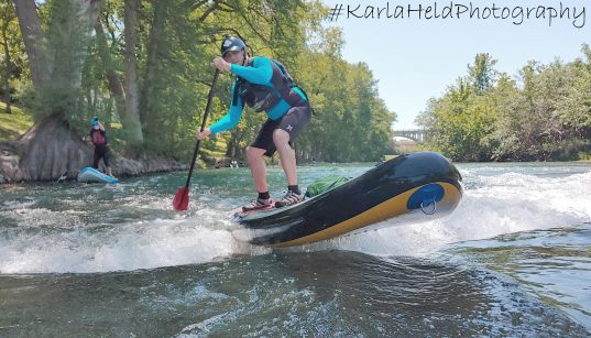 SUP boarding on the Guadalupe River