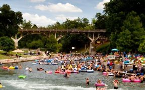 comal river near tube chute