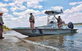 Game Warden search boat