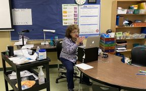 Remote learning at Startzville Elementary School