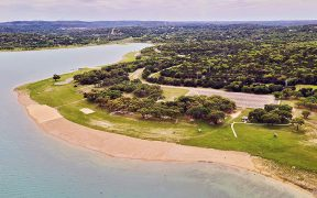 Aerial view of Comal Park